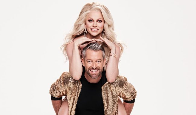 """Courtney Act danced with a male partner on Dancing with The Stars Australia to the tune of """"Fell It Still."""""""
