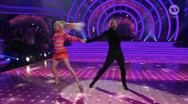 Courtney Act makes Dancing with the stars debut with male partner