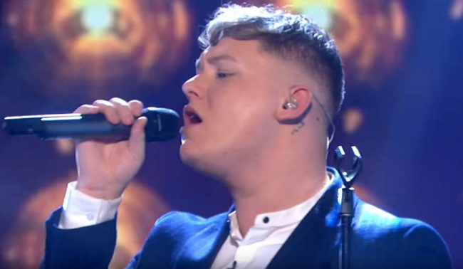"""Michael Rice sings his song """"Bigger Than Us"""" after winning Eurovision: You Decide"""