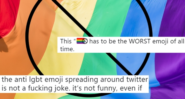 Many have spoken out against the new anti-LGBT emoji (Tristan Fewings/Getty and twitter)