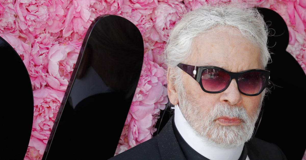 German fashion designer Karl Lagerfeld has died. Pictured attending the Dior Men's Spring/Summer 2019 fashion show on June 23, 2018 in Paris. (FRANCOIS GUILLOT/AFP/Getty)