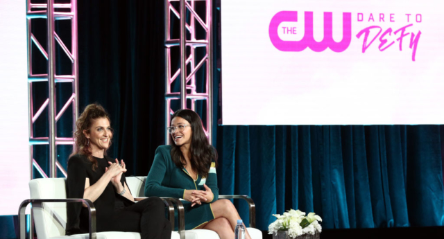 Jennie Snyder Urman and Gina Rodriguez of the television show 'Jane the Virgin' (Frederick M. Brown / Stringer)