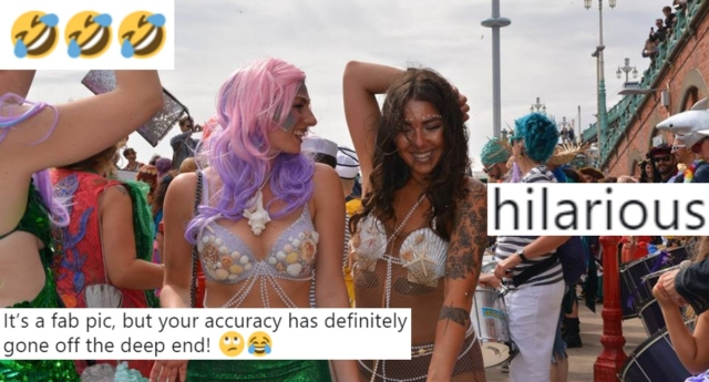 March of the Mermaids raises money for marine conservation—not trans people (Twitter and March of the Mermaids/Facebook)