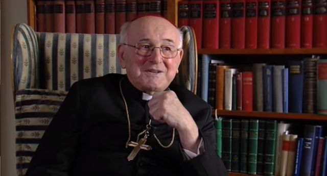 "Cardinal Brandmüller who has called for bishops to stop the spread of the ""homosexual agenda."""