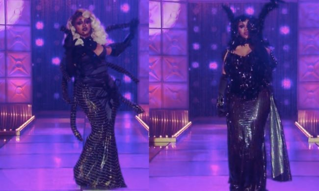 A'keria sports identical runway looks on Drag Race.