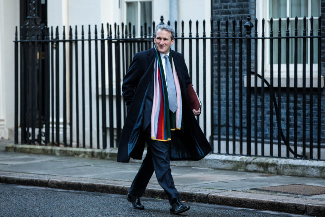 Education Secretary Damian Hinds arrives for the weekly cabinet meeting at Downing Street on January 22, 2019 in London, England.