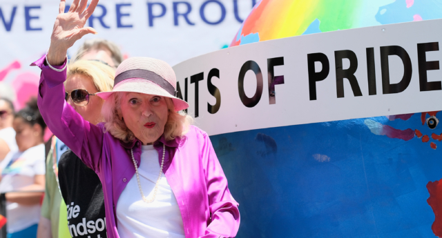Edith Windsor attends the New York City Gay Pride 2017 march on June 25, 2017  in New York City. (Dimitrios Kambouris/Getty)