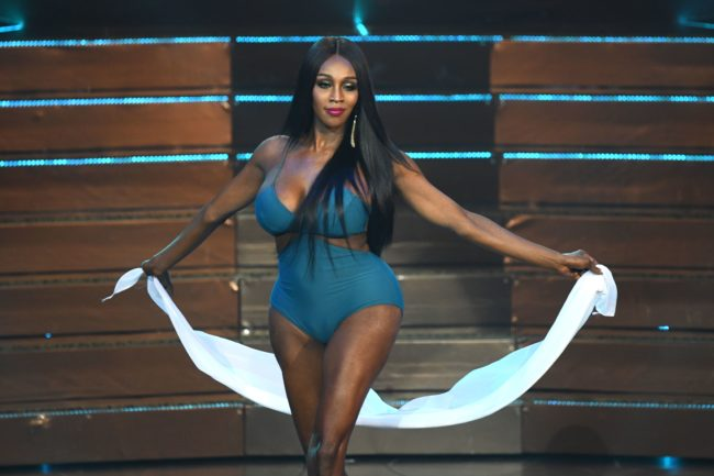 Contestant Jazell Barbie Royale of the US competes in swimsuit during the Miss International Queen 2019.