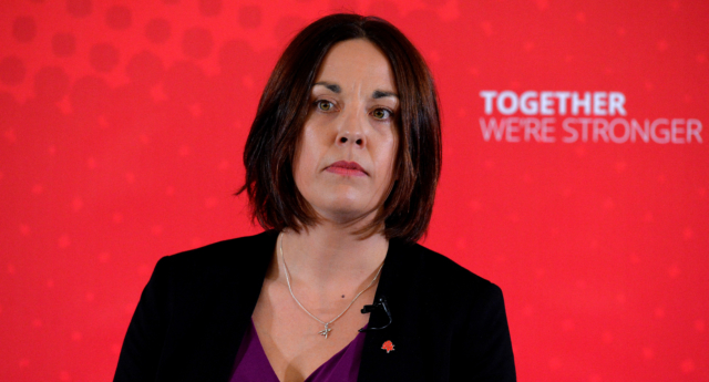 Scottish Labour leader Kezia Dugdale gives a General Election speech at the Carnegie Conference Centre on April 24, 2017 in Dunfermline, Scotland. (Mark Runnacles/Getty Images)