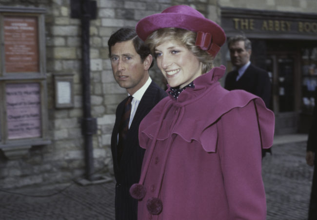 Prince Charles and the Princess of Wales (1961 - 1997, later Diana, Princess of Wales) at Westminster Abbey, London, for a centenary service for the Royal College Of Music, 28th February 1982.