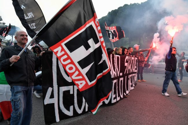 "Members of Italian far-right political party ""Forza Nuova"" (New Force) will join the March for the Family organised by the World Congress of Families in Verona on Sunday (March 31)."