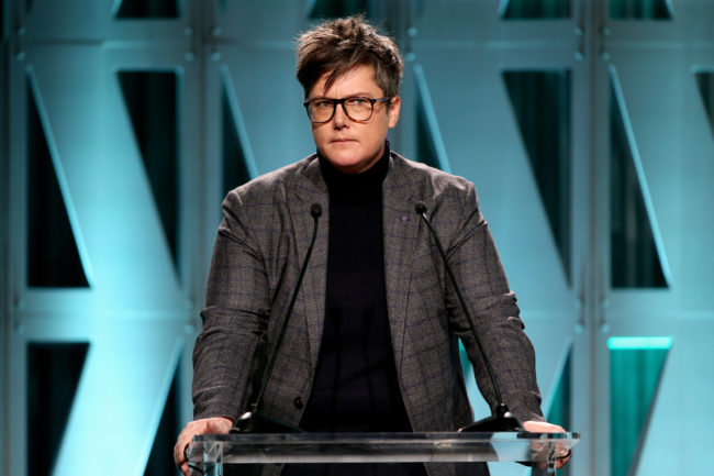 Hannah Gadsby speaks onstage during The Hollywood Reporter's Power 100 Women In Entertainment at Milk Studios on December 5, 2018 in Los Angeles, California.
