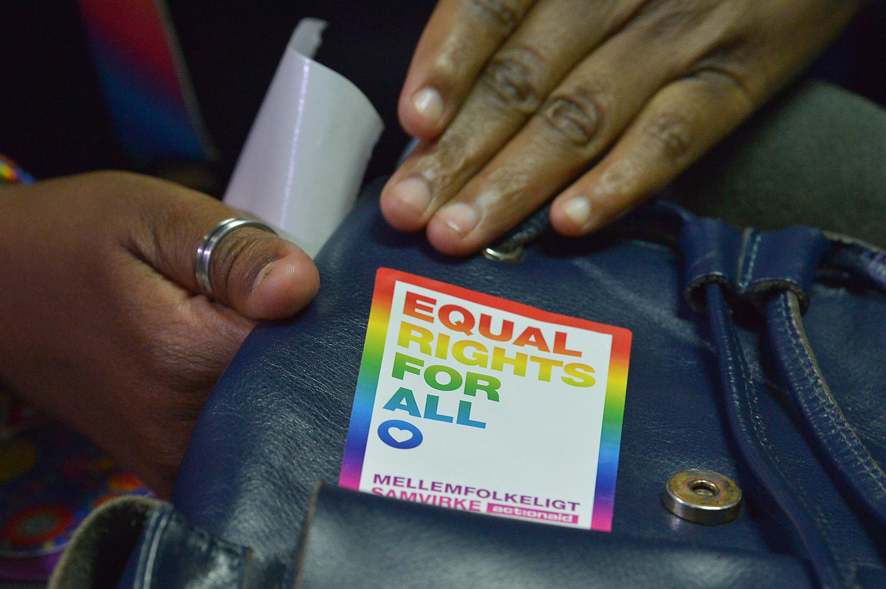 LGBT activists attend a court hearing in the Milimani High Court in Nairobi, Kenya, on February 20, 2019