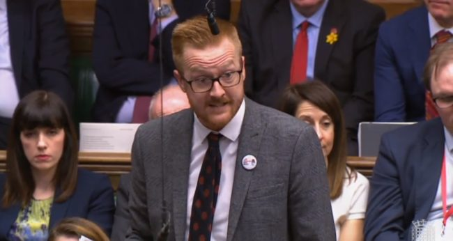 "Labour MP Lloyd Russell-Moyle had urged the Prime Minister to condemn ""bigots"""