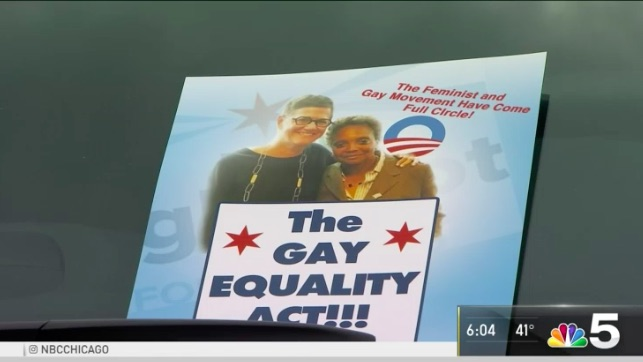 A homophobic flyer against lesbian mayoral candidate Lori Lightfoot in Chicago