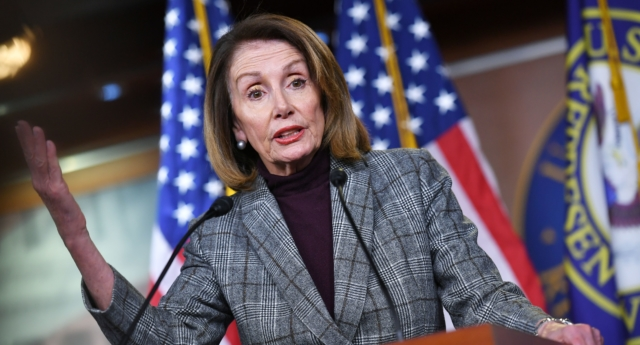 House Speaker Nancy Pelosi (D-CA), speaks during a weekly press conference at the US Capitol in Washington, DC on February 28, 2019. (MANDEL NGAN/AFP/Getty)