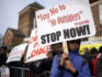 Parents demonstrate against the No Outsiders programme at Parkfield Community School on March 21 in Birmingham. (Christopher Furlong/Getty)