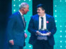 Prince Charles, Prince of Wales with winner of the Educational Award, Jay Kelly during the annual Prince's Trust Awards at the London Palladium on March 13, 2019 in London, England. (Dominic Lipinski - WPA Pool/Getty)