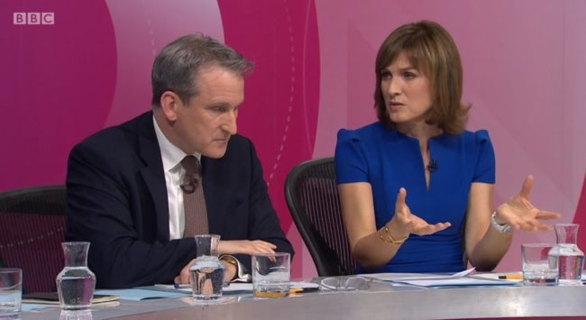 Education Secretary Damian Hinds is pressed by host Fiona Bruce