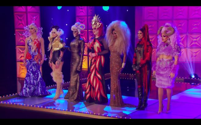 RuPaul's Drag Race runway looks from the Black Panther team.