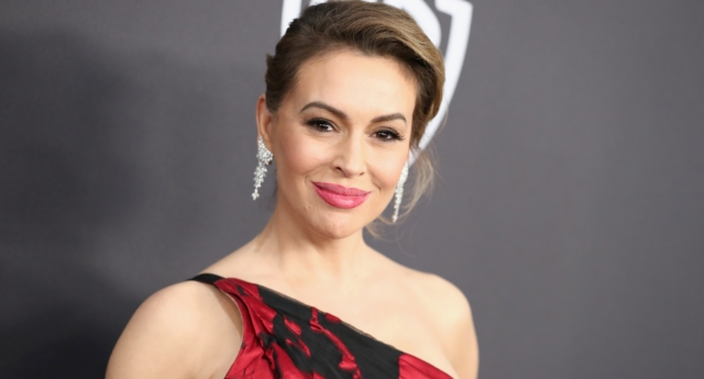 Alyssa Milano attracted criticism for her tweet on International Women's Day. (Rich Fury/Getty)