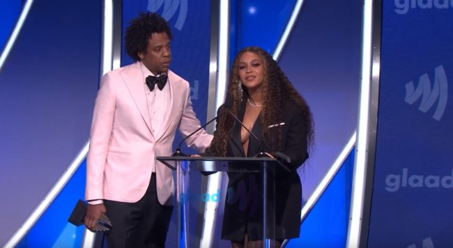 Beyoncé and Jay Z at the 2019 GLAAD Awards