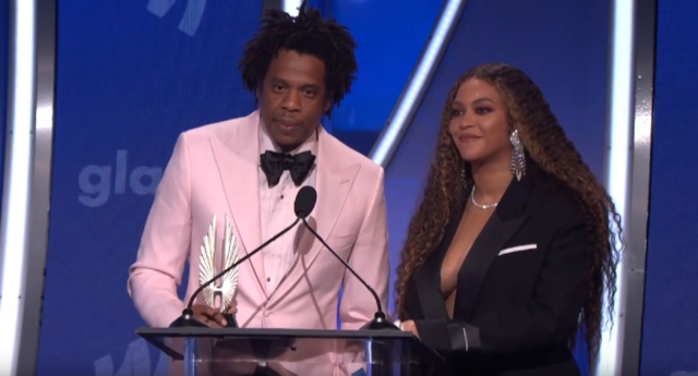 Beyonce And Jay-Z Got Emotional While Accepting The GLAAD Vanguard Award