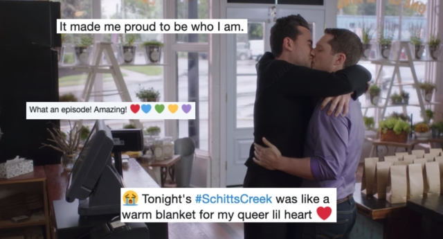 Viewers loved the latest Schitt's Creek episode. (Screenshot/Netflix)