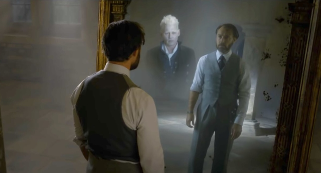 Dumbledore and Grindelwald in Fantastic Beasts. They may have been gay lovers. (Warner Bros.)