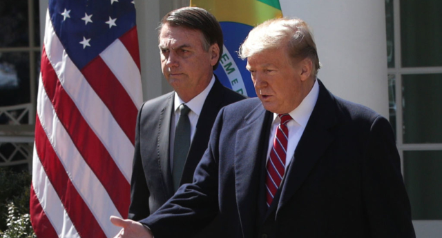 Brazil's president praises Trump and slams 'fake news' at White House
