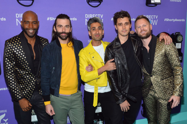 Karamo Brown, Jonathan Van Ness, Tan France, Antoni Porowski, and Bobby Berk of Queer Eye attend the 10th Annual Shorty Awards at PlayStation Theater on April 15, 2018 in New York City.