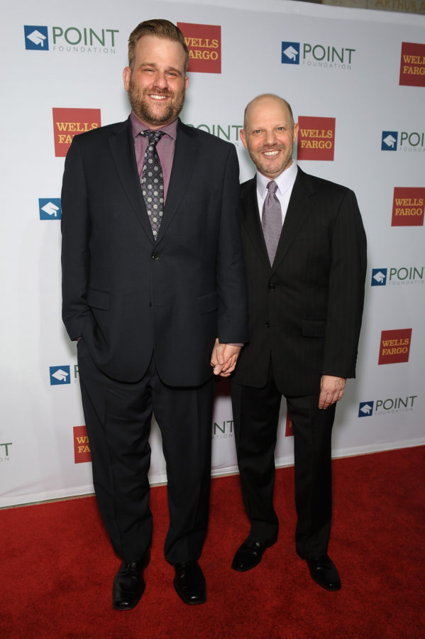Stephen Wallem and Tony Humrichouser attend The Point Foundation's Annual Point Honors New York Gala at New York Public Library on April 13, 2015 in New York City.