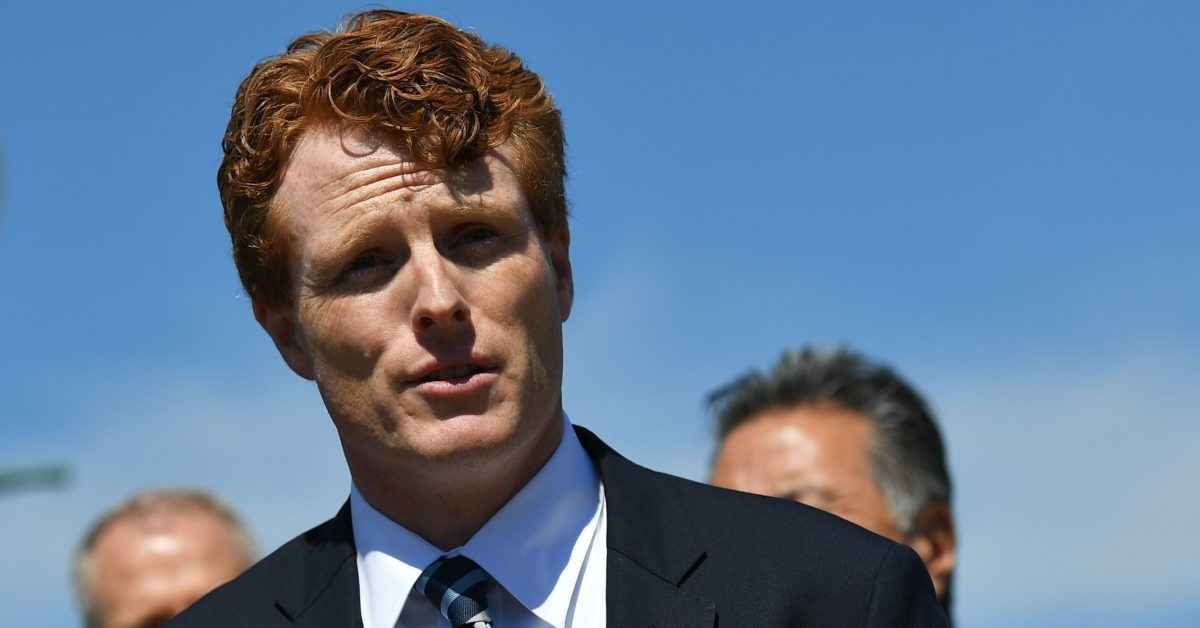 Representative Joe Kennedy III, D-MA, takes part in a press conference on a resolution rejecting US President Donald Trump's transgender military ban at the House Triangle outside the US Capitol in Washington, DC on March 28, 2019. (Mandel Ngan/AFP/Getty)