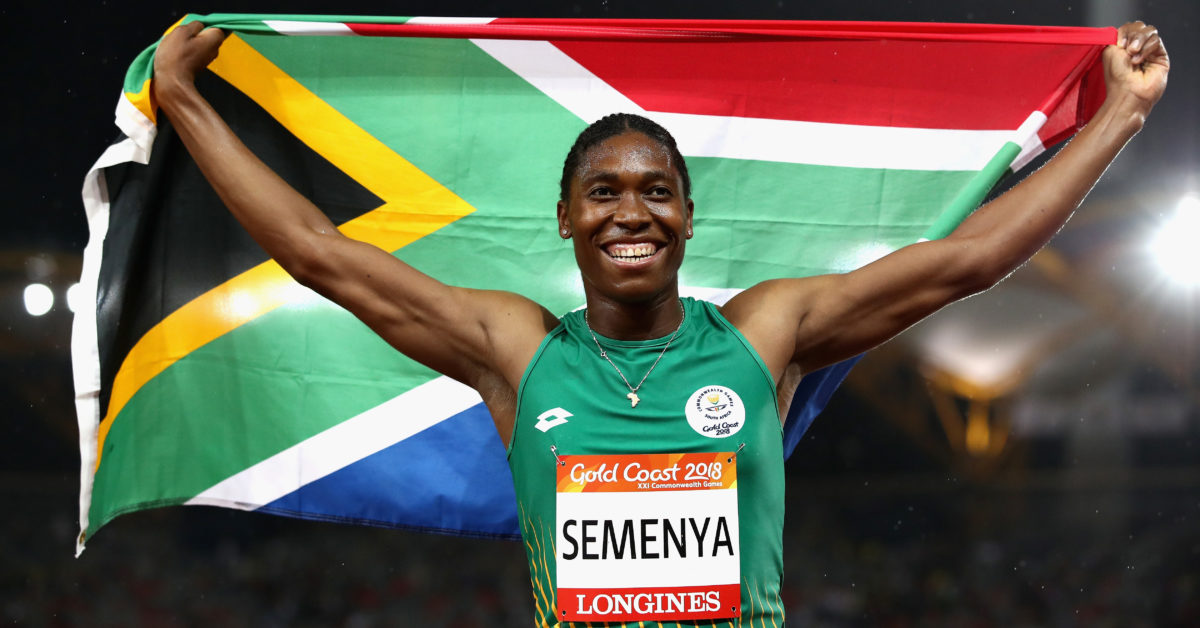 Caster Semenya of South Africa is fighting a new IAAF policy that would force her to undergo hormone therapy to compete in women's events. (Cameron Spencer/Getty)