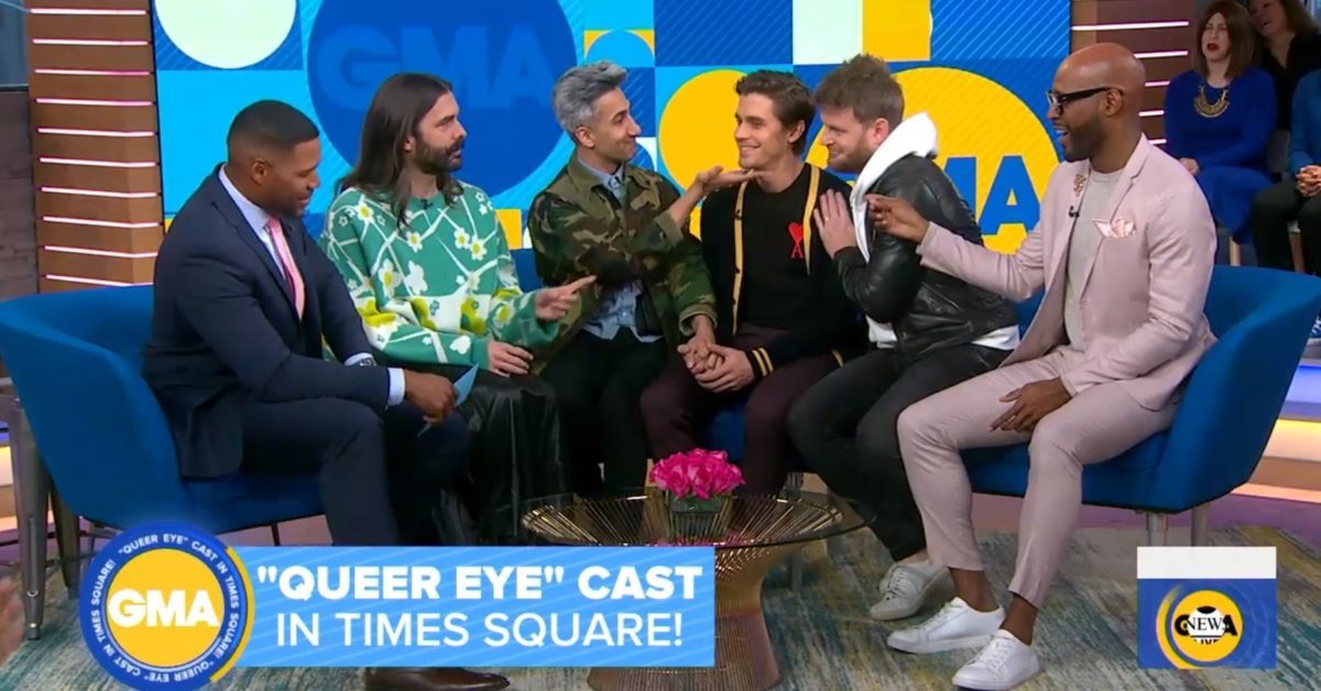 The Fab Five appeared on Good Morning America to promote Queer Eye season 3. (ABC/YouTube)