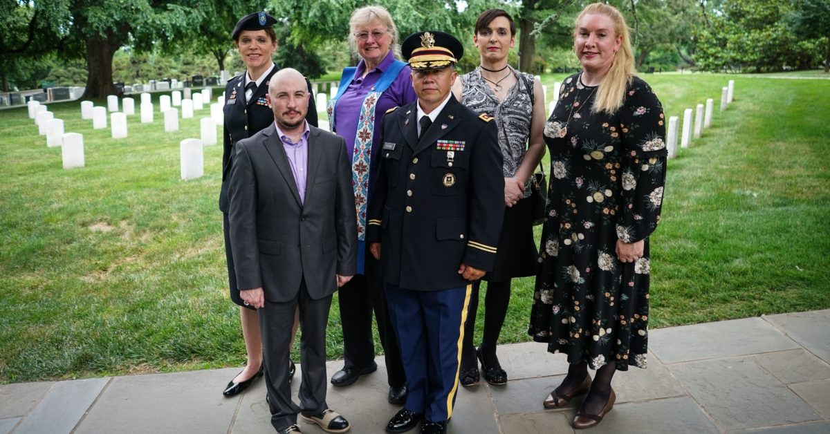 Transgender troops like these service members may be discharged if they refuse to serve under the gender they were assigned at birth.(MANDEL NGAN/AFP/Getty)