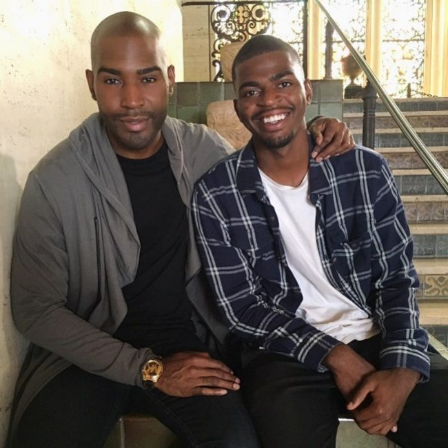 Queer Eye host Karamo Brown in an Instagram photo with his son Jason.
