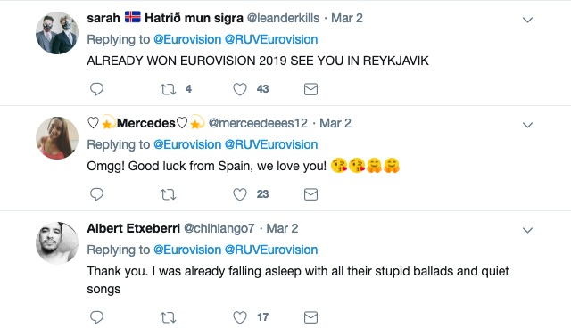 Reactions to Hatari being named as Iceland's Eurovision entry.