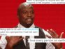 Terry Crews was heavily criticised for his initial comments. (Frederick M. Brown/Getty and twitter)