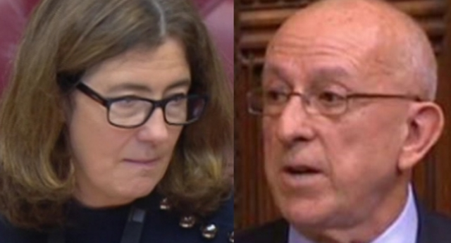 Lord Hayward told Baroness Williams he would not stop trying to bring same-sex marriage to Northern Ireland through legislative means (BBC Parliament)
