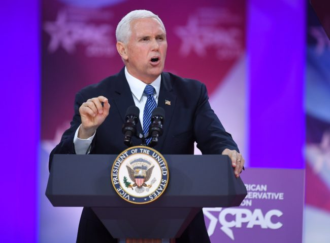 US Vice President Mike Pence, who was criticised by gay Indiana mayor Pete Buttigieg