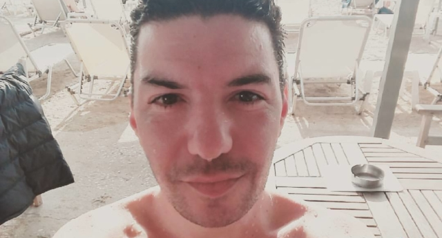 The gay, HIV-positive activist was buried in the village of Kirra, where he grew up. (Zak Kostopoulos/Facebook)