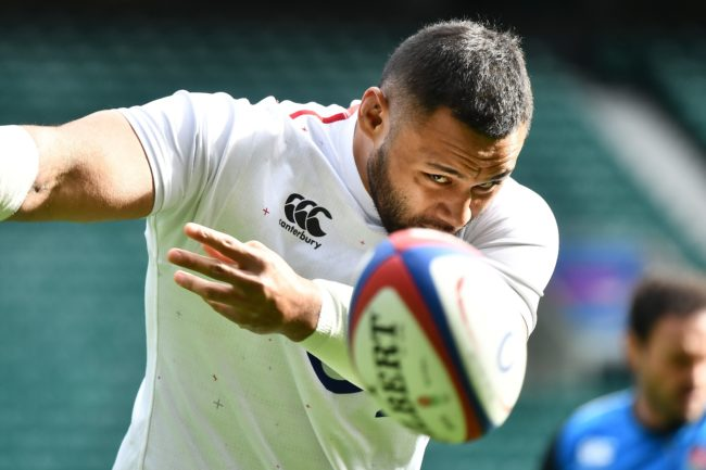 England's number 8 Billy Vunipola attends the captain's run training session at Twickenham stadium in south west London on March 15, 2019.