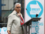 Dr Alka Sehgal Cuthbert speaks at the launch of the Brexit Party on April 12, 2019 in Coventry, England. (Matthew Lewis/Getty)