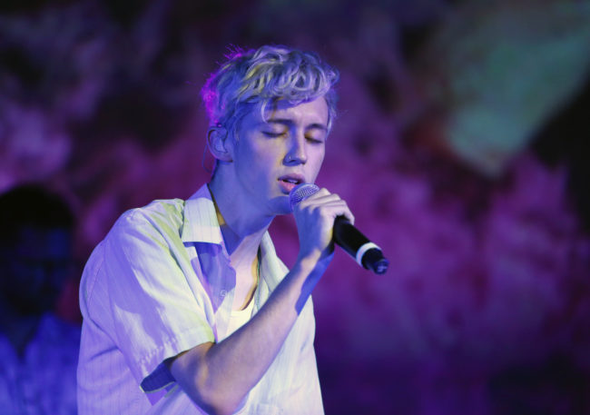 Troye Sivan performing at a recent concert.