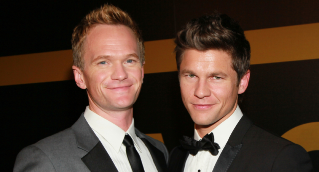 Actors Neil Patrick Harris (L) and David Burtka attend the AMC After Party for the 62nd Annual EMMY Awards at Soho House on August 29, 2010 in West Hollywood, California.  (Photo by David Livingston/Getty Images)