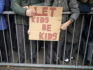 Parents and protesters demonstrate against the 'No Outsiders' programme, which teaches children about LGBT rights in Birmingham, England (Christopher Furlong/Getty)