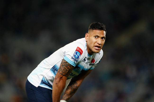 Rugby Australia has fired Israel Folau of the Waratahs.