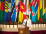 Commonwealth Secretary-General Patricia Scotland  gives a speech at the formal opening of the Commonwealth Heads of Government Meeting (Dominic Lipinski-WPA Pool/Getty)