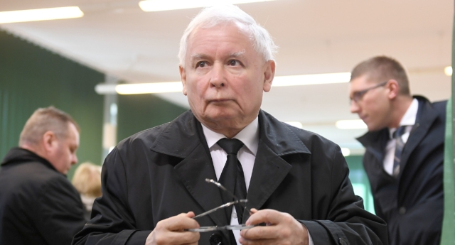 Jaroslaw Kaczynski, leader of the ruling Law and Justice party in Poland. (JANEK SKARZYNSKI/AFP/Getty Images)